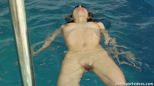 Amateur Aqua Nude Aerobics And Professional Masturbation