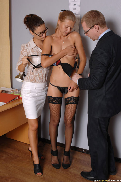 Totally Undressed By Two Staff Managers Totally Dped With Two Dildos