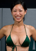 Naked wrestler Tia Ling